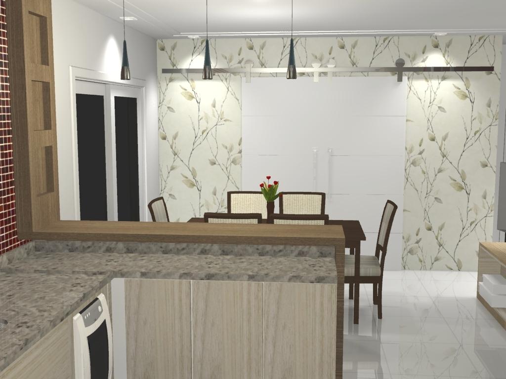 Cozinha integrada à sala #4E5930 1024 768